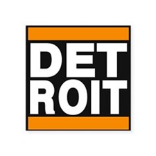 detroit orange Sticker