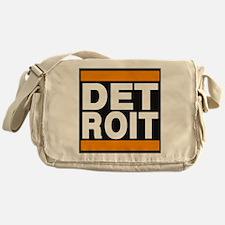 detroit orange Messenger Bag