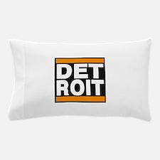 detroit orange Pillow Case