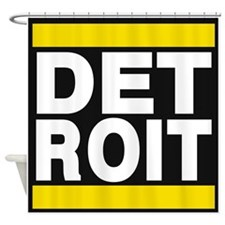 detroit yellow Shower Curtain