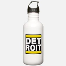 detroit yellow Water Bottle
