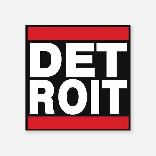 detroit red Sticker