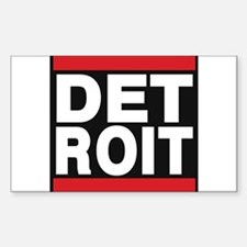 detroit red Decal