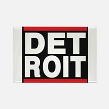 detroit red Rectangle Magnet