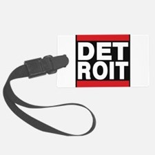detroit red Luggage Tag