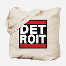 detroit red Tote Bag
