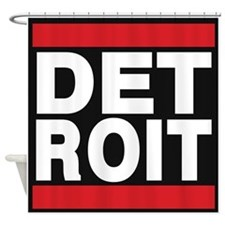 detroit red Shower Curtain