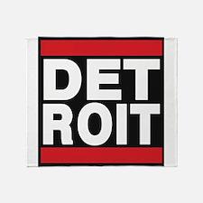 detroit red Throw Blanket