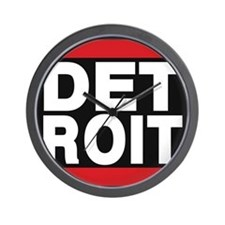detroit red Wall Clock