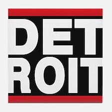 detroit red Tile Coaster