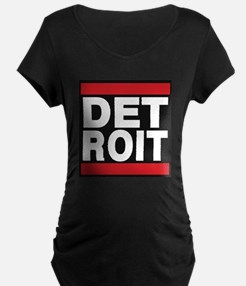 detroit red Maternity T-Shirt