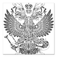 "Byzantine Eagle Square Car Magnet 3"" x 3"""