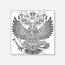 "Byzantine Eagle Square Sticker 3"" x 3"""
