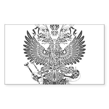 Byzantine Eagle Sticker (Rectangle)