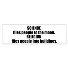 Science Flies Car Sticker