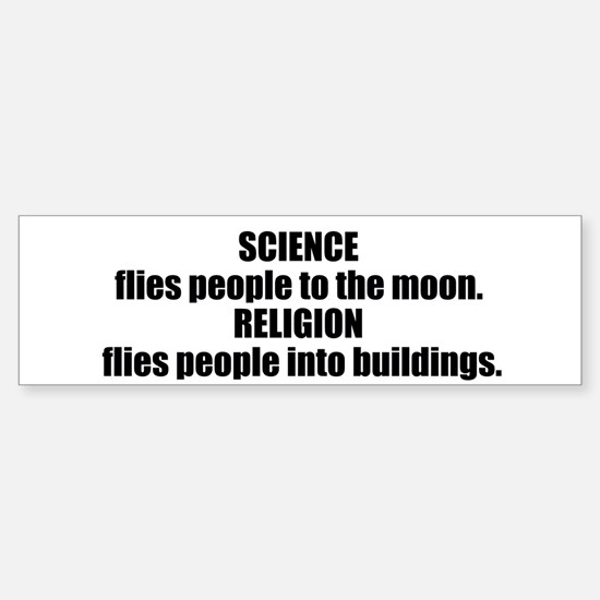 Science Flies Sticker (Bumper)