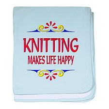 Knitting Happy Life baby blanket