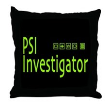 PSI Investigator Throw Pillow