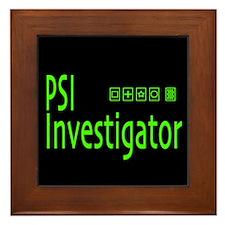 PSI Investigator Framed Tile