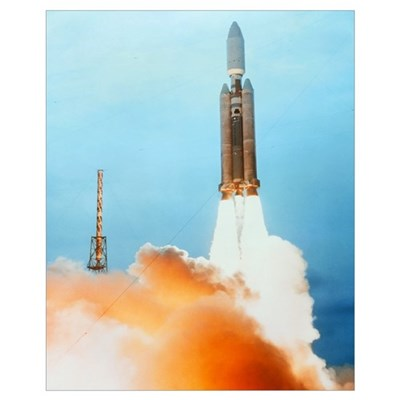 Launch of a Titan IV rocket Framed Print
