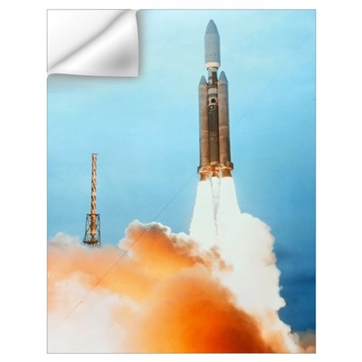 Launch of a Titan IV rocket Wall Decal