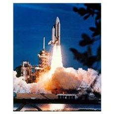 Launch of Columbia, the first space shuttle Canvas Art