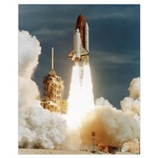 Launch of shuttle mission STS-70, July 13 1995 Poster