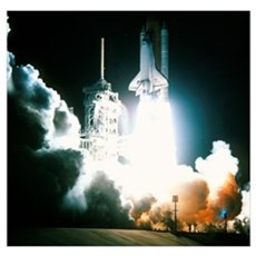 Launch of the space shuttle Endeavour on STS-88 Poster