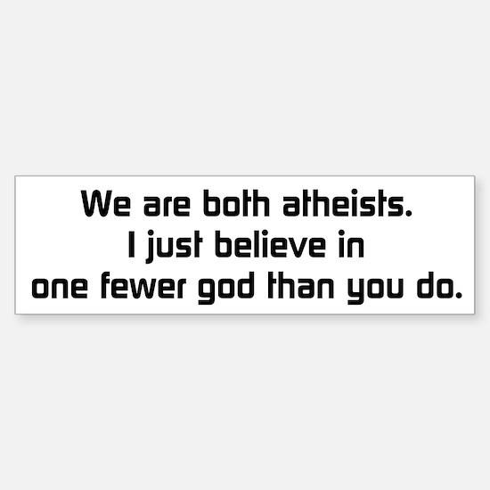 One Fewer God Sticker (Bumper)