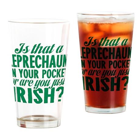 Leprechaun In Your Pocket Drinking Glass