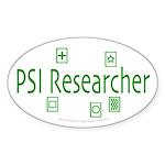 PSI Researcher Oval Sticker