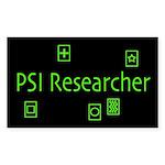 PSI Researcher Dark Rectangle Sticker
