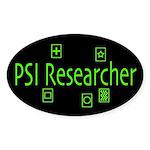 PSI Researcher Dark Oval Sticker