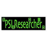 PSI Researcher Dark Bumper Sticker