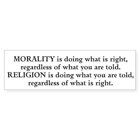 Morality Sticker (Bumper)