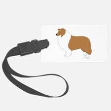 Rough Collie Luggage Tag
