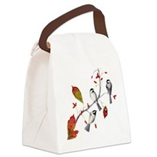 Chickadees Canvas Lunch Bag