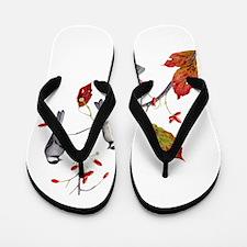 Chickadees Flip Flops