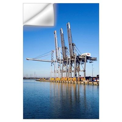 Dockside cranes Wall Decal