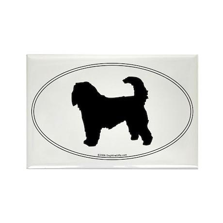 Otterhound Silhouette Rectangle Magnet