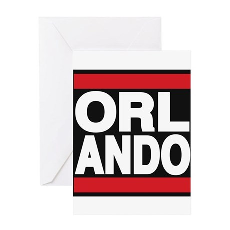 orlando red Greeting Card