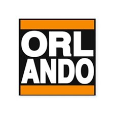 orlando orange Sticker