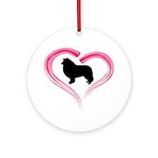 Heart My Collie Ornament (Round)