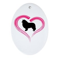 Heart My Collie Ornament (Oval)