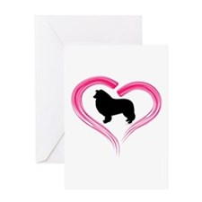 Heart My Collie Greeting Card