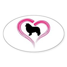 Heart My Collie Decal