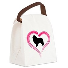 Heart My Collie Canvas Lunch Bag