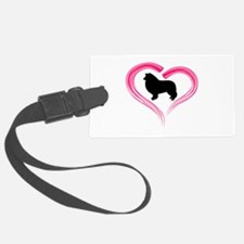 Heart My Collie Luggage Tag