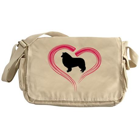 Heart My Collie Messenger Bag
