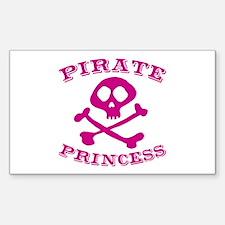 Pirate Princess Rectangle Decal